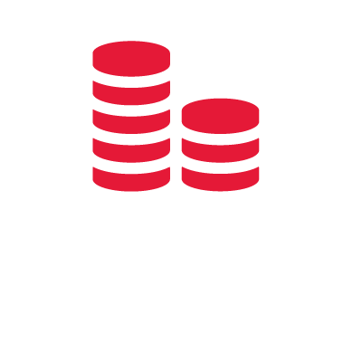 Extended hand holding coins icon