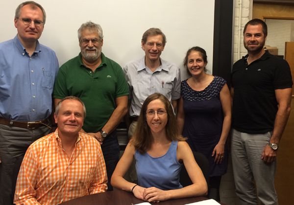 Photo of the Medicine by Design endogenous repair team, led by Michael Sefton.