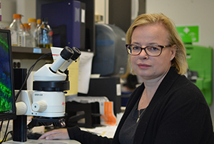 Carol Schuurmans in her laboratory