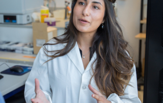 Head shot of Nika Shakiba, a PhD candidate who has won a Medicine by Design Travel Award to present her research at the 2017 Till & McCulloch Meetings.