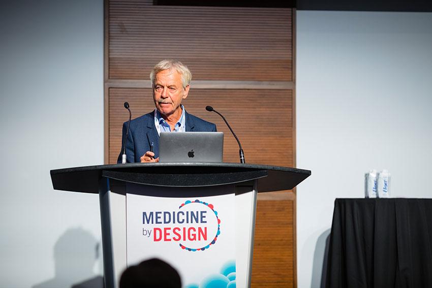 Keynote speaker Rudolf Jaenisch from the Massachusetts Institute of Technology gives a talk on epigenetic regulation in development, aging and disease.