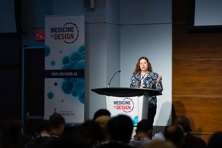 Jennifer Mitchell (Department of Cell & Systems Biology) presents a talk on using CRISPR genome engineering to probe regulatory networks in stem cells.