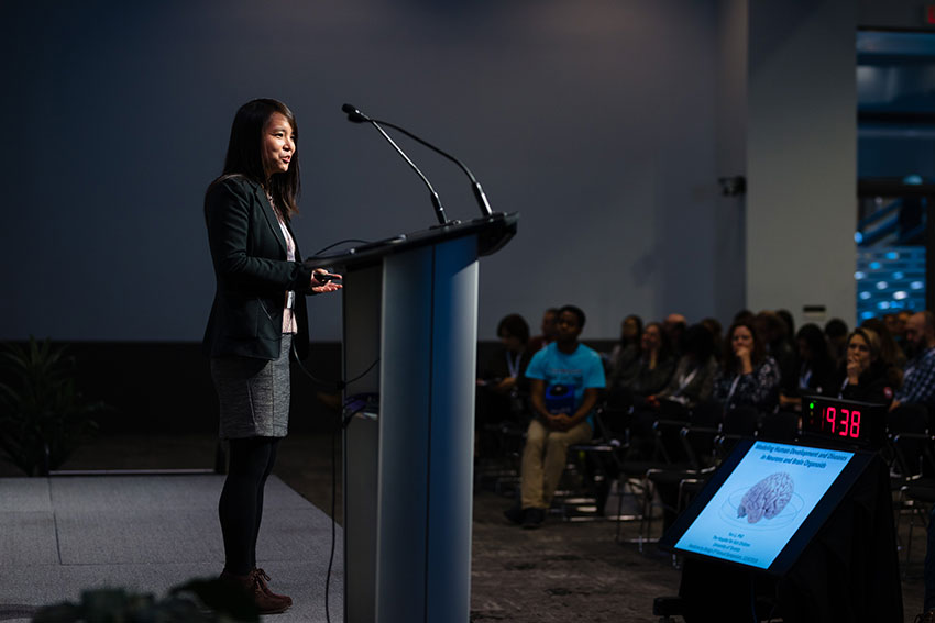 Medicine by Design Investigator and SickKids researcher Yun Li gives a talk on modelling human development and diseases in neurons and brain organoids.