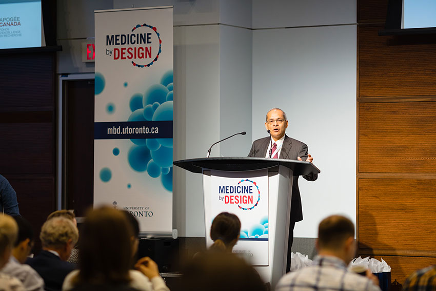 Vivek Goel, vice-president of research and innovation at the University of Toronto, delivers welcome remarks.