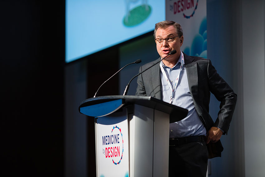 Michael Laflamme, a principal investigator at University Health Network, gives a talk on heart regeneration with pluripotent stem cells.