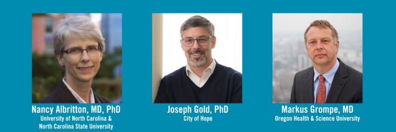 2019 Symposium invited speakers: Nancy Allbritton, Joseph Gold, Markus Grompe