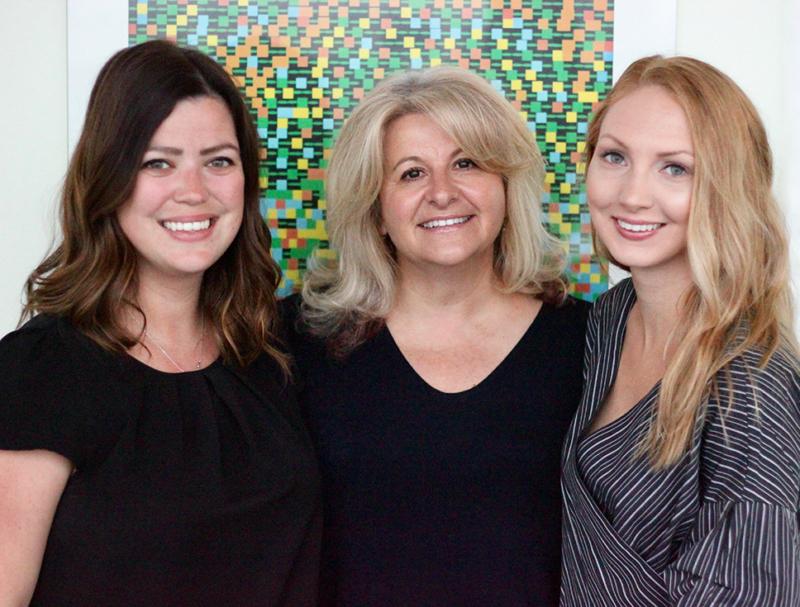 Photo of Cindi Morshead and two trainees