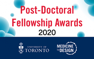 Post-Doctoral Fellowship Awards 2020